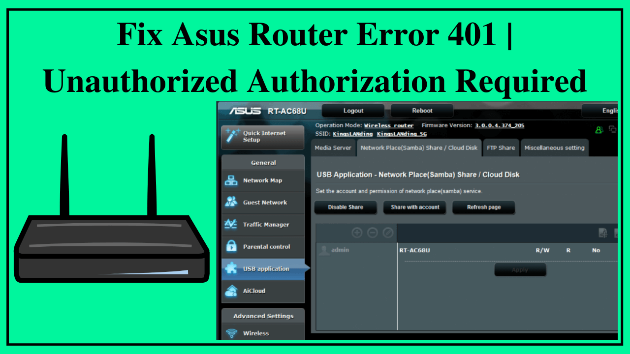 Asus Router Error 401